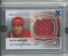 Valeri Kharlamov Superlative Vault on Vol. 2 Ice jersey V1/1 Sapphire Logo.