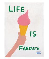 David Shrigley - Life Is Fantastic Tea Towel - Collectable Art