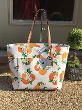 Kate Spade Harding Orange Print Riley Large Tote Handbag Shopper