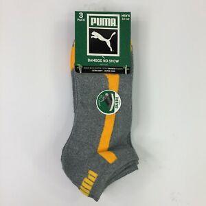 3 Pair Puma Mens Extra Soft Bamboo Fibers No Show Socks For Suede Shoes  NWT