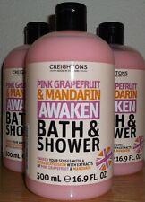 4 Creightons Pink Grapefruit & Mandarin Bath & Shower Gel