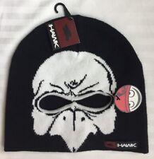 Tony Hawk Boy's Beanie Hat Black Knit One Size New Ship Free Hawk & Eye Holes
