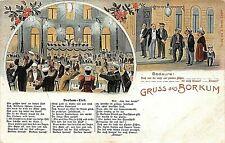 Postcard Judaica Gruss Aus Borkum Bedaure !