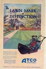 atco  mower ad 1930  repoduction