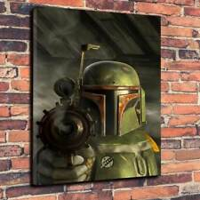 """Star Wars Boba Fett EE-3 Blaster Art Printed Canvas Picture A1.30""""x20""""30mm Deep"""