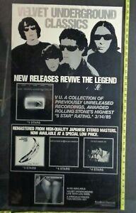 "VELVET UNDERGROUND,Poster,18""x34"" Original POLYGRAM Record Company poster"