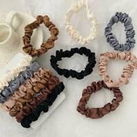 6PCS Elastic Hair Band Silk Satin Scrunchie Hair Ties Ponytail Holder Ropes Set