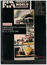 Formula 1 World Championship Program 1988 Grand Prix du Canada Montreal