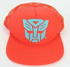 Transformers 2013 Optimus Prime Hasbro Raised Print Trucker Snapback hat cap