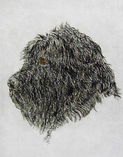 GEOFFREY LASKO - BLACK RUSSIAN TERRIER DOG - ORIGINAL ETCHING - S&N - FREE SHIP