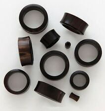 "1 Pair 9/16"" 14mm Black Areng Organic Natural Wood Tunnels Plugs Ear Gauges 587"