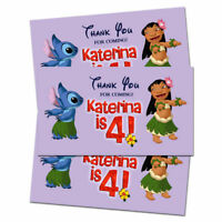 10 Lilo and Stitch Movie Birthday Party Favors Personalized Thank You Tags