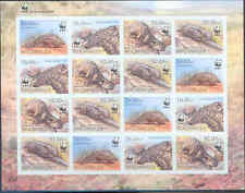 Mozambique Wwf World Wildlife Fund Ground Pangolin Sheet Of 16 Imperf