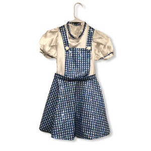 #GIRLS  DOROTHY WIZARD OF OZ PAGEANT OOC OR PLAY DRESS SIZE Medium