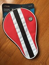 Stiga Table Tennis Ping Pong Paddle Cover Red White & Black Premium