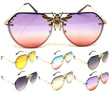 BIG 3D KILLER BEE LUXURY AVIATOR SUNGLASSES FLOATING LENSES ELEGANT HIP HOP VTG