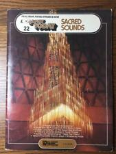 SACRED SOUNDS EZ PLAY TODAY For all Organs Portable Keyboards Guitar Music Book