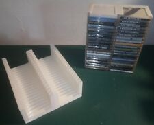 Blanc minidisc Plateau (Détient 40 in (environ 101.60 cm) cas, 2x20) Stockage/Support/Stand/Rack/BOX
