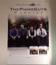 "The Piano Guys Promo Poster 11""x17"" Ad For New LP CD Wonders, 500M YouTube Hits!"