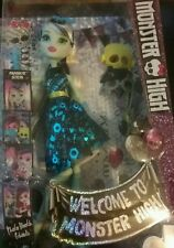 "New MONSTER HIGH ""Welcome To Monster High""  Frankie Stein Doll"