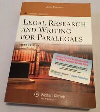 Legal Research & Writing for Paralegals Bouchoux 2009 5thEd Loislaw Prepaid Card