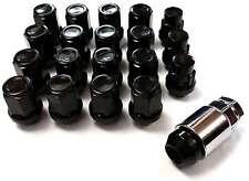 x16 Black Tapered 60 Degree Alloy Wheel Nuts + Locking Nuts TOYOTA CARINA 84>88