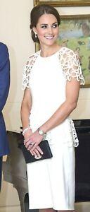 New NWT Lela Rose Ivory Circle Lace Peplum Royal Wedding Cocktail Dress US 6