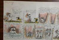 """Disney Studios Original Comic Strip Drawing of """"SCAMP"""" 8/20/78 by Bill Berg"""