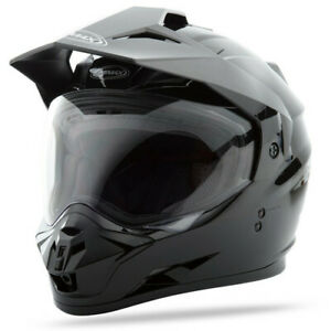 GMAX GM11D Solid Gloss Black Dual Sport Adventure Touring Motorcycle G5115025