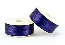 66m Bobbin, Size B pre-waxed Nymo, Beading Thread - DK PURPLE