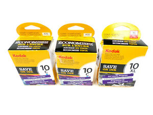 3-pc Kodak (2x) 10C Color + (1x) 10XL Black OPEN BOX Genuine OEM Ink Cartridges