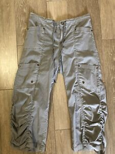 XCVI Gray Crop Cargo Pants Ruched Size S