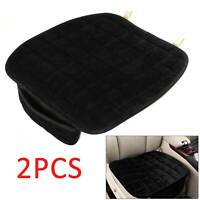 2XCar Plush Non-Slip Front Seat Cover Pad Lattice Protector Cushions Mat UK