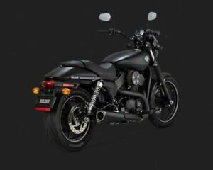 VANCE & HINES COMPETITION SLIP-ONS IN BLACK FOR HARLEY STREET MODELS (47937)