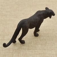 1x Schwarz Panter Leopard Modell Mini Künstliche Tischdeko Figur Dekofigur Neu