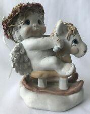 "Dreamsicles Cherub Angel On Rocking Horse ""Range Rider"" Figure Kristin 96"