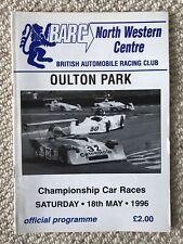 1996 OULTON PARK BARC CHAMPIONSHIP CAR RACES PROGRAM