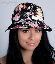 Ladies, men, bucket hats, sun derby holiday, hip hop urban black hawaiian flower