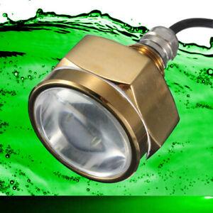 Underwater Marine Boat LED Drain Plug Light 27W Green - Extremely Bright Light