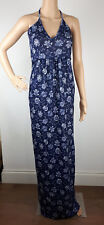 Ex Boohoo TALL NAVY BLUE Floral Print Maxi Dress Summer Holiday Size 10 - 18