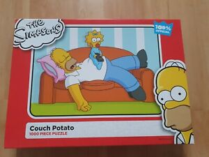 """The Simpsons 1000piece jigsaw puzzle """"couch potato"""""""