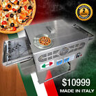 """Mazerati Pizza Oven Stainless Steel Commercial Gas Deck Double Steel Ovens 18"""""""