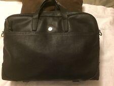 New NWT DANIEL CREMIEUX Men's Leather BRIEFCASE BLACK MSRP $425.00