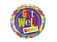"""18"""" GET WELL ILL BETTER SOON POORLY HELIUM FOIL BALLOON qual 36402"""