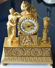 Empire französische Bronze Pendule um 1810 Bacchus