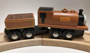 Vintage BRIO BRAND Thomas Wooden Train Set Engine Duke Britt Allcroft Tender Car