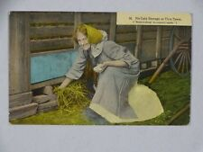 1913 Postcard No Cold Storage This Town Sextonville Ben Treakle Lake Crustal WI