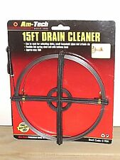 15 FT FLAT STEEL COIL DRAIN CLEANER by Amtech Brand New