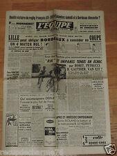 JOURNAL L EQUIPE 06 04 1952 BOBET VAN EST GAUTHIER LILLE BORDEAUX RUGBY COLOMBES