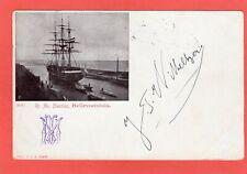 More details for sailing ship nautilus hellevoetsluis signed wilberger netherlands pc 1901   t151